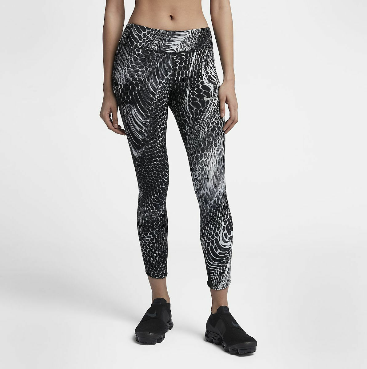 Womens NIKE POWER Epic Lux Tight Fit Running Crop Length  Small 902218-010