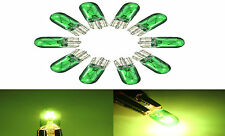 2x SIDELIGHT BULBS GREEN T10 W5W 501 5W Halogen Bulbs Car Dashboard Interior