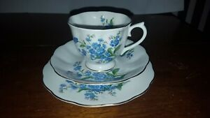 Royal-Albert-Forget-Me-Not-Bone-China-Tea-Cup-Saucer-Bread-and-Butter-Plate-Trio