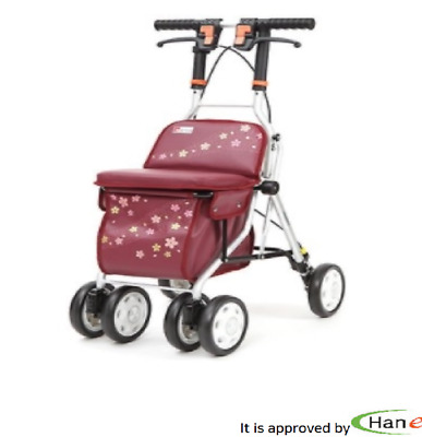 The Elderly Walking Flame Aids Walker Foldable Mobility Support Brace Wheel Seat    eBay