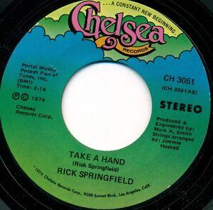 Rick-Springfield-PRENDERE-A-MANO-ARCANGELO-7-034-LC-1976-Chelsea-Single-s8897