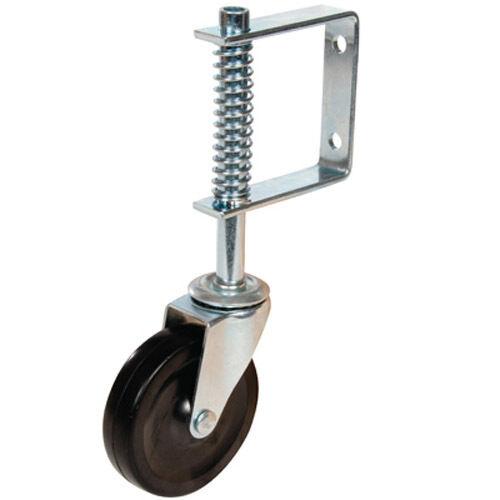 """Gate Castor Wheel Swivel Spring-Loaded 57kg Load 4/"""" LIFETIME WARRANTY 100mm"""