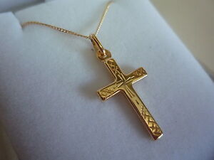 new-9ct-yellow-chain-curb-18-034-chain-and-pendant-holy-cross-plain-design