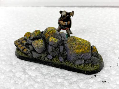 Rocky Outcrop Scatter Terrain x3 28mm Wargames Terrain Scenery Warhammer