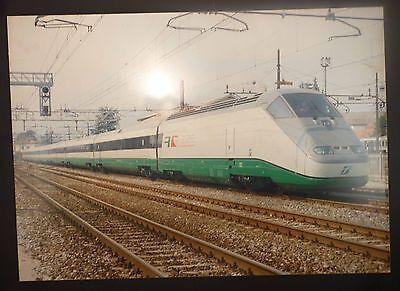 Premuroso Railways Poster Fs Etr 500 Train - Vera Foto Su Pannello Alluminio 69x49