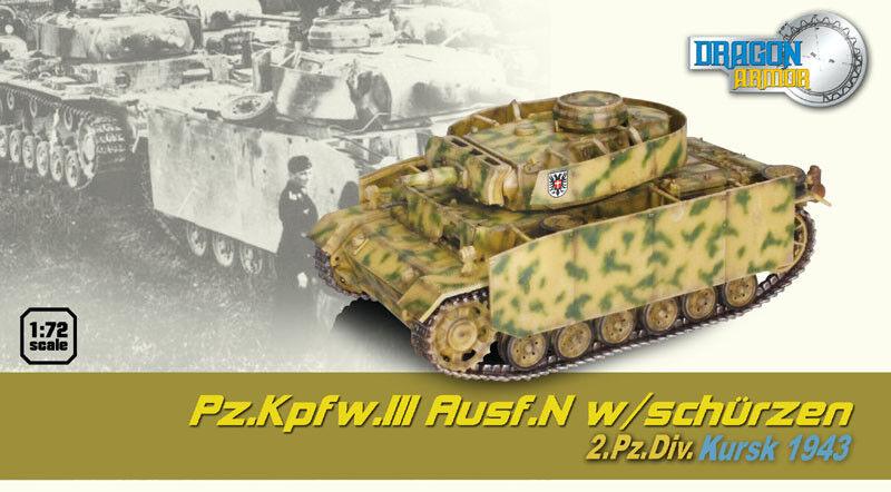 Dragon 60452 - 1 72 WWII Deutscher Pz.Kpfw.III Ausf. M Mit Schürzen - 1943 - Neu  | Schön In Der Farbe