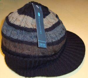 Berretto-con-frontino-cappello-Ragazzi-NERO-MARRONE-UNA-DIMENSIONE-NUOVA