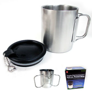 Travel-Coffee-Mug-Stainless-Steel-Lid-Tea-Drink-Tea-Cup-Handle-Double-Wall-10-Oz