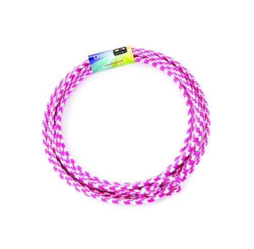 Details about  /Just Jump It Lil Lariat pre-tied-20/' Raspberry and White Junior Lasso