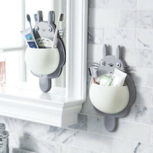 Bathroom Suction Cup Cartoon Animal Toothbrush Holder Wall Mount Sucker G