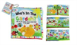 Child's Learning Book Reading Book Baby Playtime 18 x 16.5cm Who's In The Garden