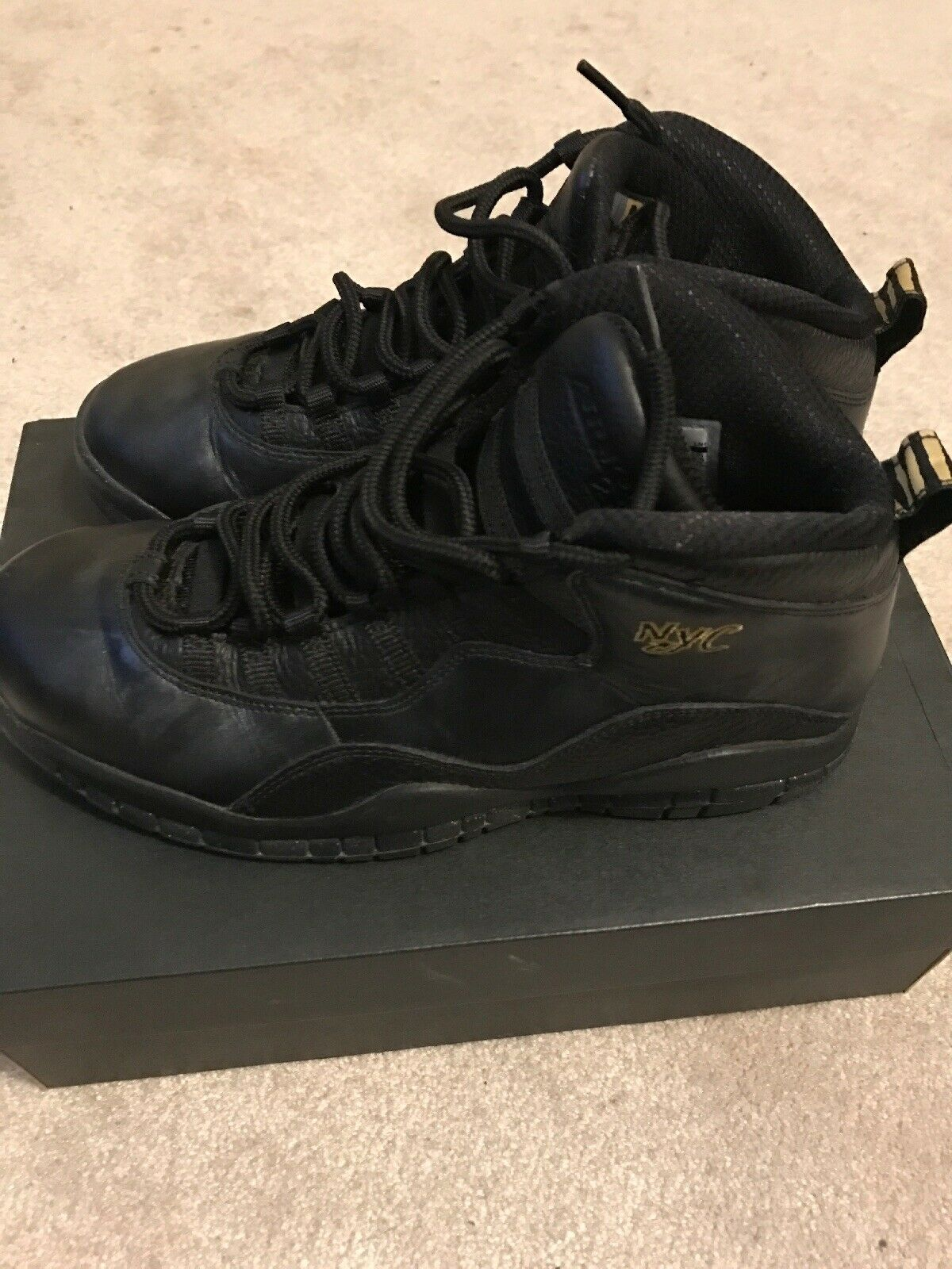 new concept 76a13 64691 ... Nike Air Air Air Jordan Retro 10 NYC mens size 8.5 310805-012 Excellent  Condition ...