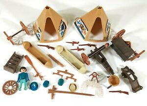 Vintage-Playmobil-Wild-West-Indians-Civil-War-Mixed-Bundle-Parts-amp-Spares-F543