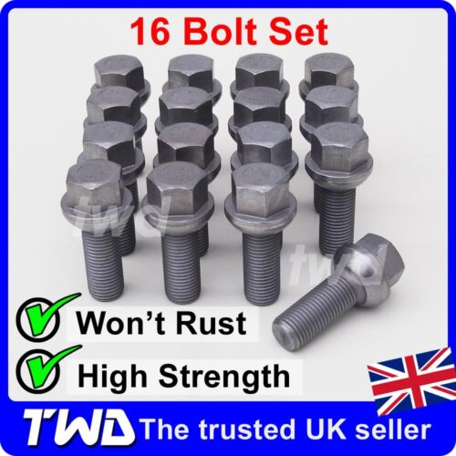 M14x1.5 ALLOY LUG NUT STUDS COMPATIBLE FIT 16x WHEEL BOLTS VW TOUAREG 16W