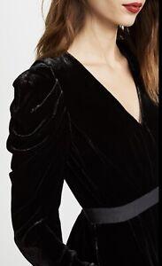 Ulla Johnson Sabine Blouse Top Black Velvet AU8-US4 Barneys New York Womens NY