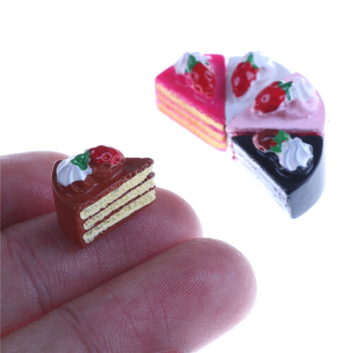 5Pcs Strawberry Cakes Miniature Food Models Dollhouse Accessories RS