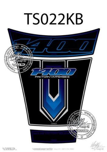 BLUE 2001-2008 TS022KB SUZUKI GSX 1400 Tank Pad BLACK