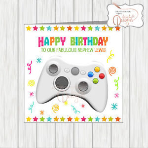 Personalised Name Age Happy Birthday Card Gamer Video Game Xbox
