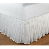 Greenland Home Fashions White Sheer 100-percent Cotton Voile 15-inch Drop Gather