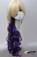 Long Curly Wavy Full Wigs Hair Lolita Harajuku Anime Cosplay Wig mixed color