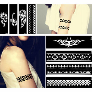 Image Is Loading Body Art Paint Template Flower Bracelet Chain Pattern