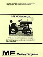 Massey Ferguson MF-10 MF-12 MF10 MF12 Tractor Shop Service Repair Manual