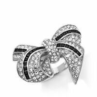 Joan Boyce I Bow To You Cz And Crystal Baguette And Pavé Ring