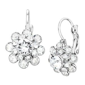 Crystaluxe-Flower-Drop-Earrings-w-Swarovski-Crystals-Sterling-Silver-over-Brass