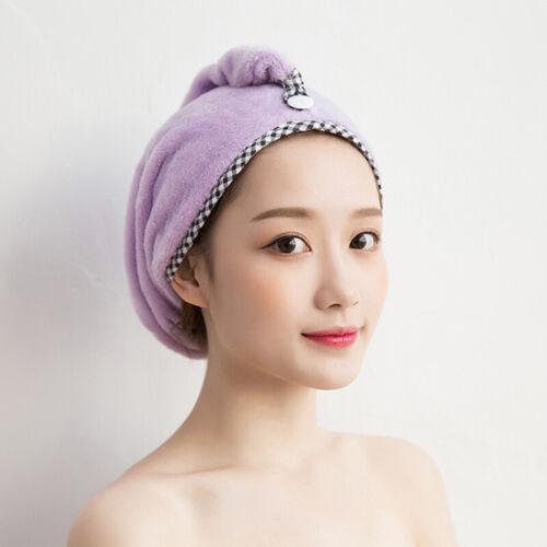 Details about  /Women Hair Hat Drying Dry Towel Wrap Cap Shower Quick Bath Spa Microfiber N3