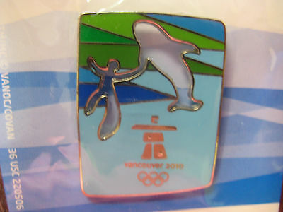 Vancouver 2010 Olympics - Cut Out Whale Pin