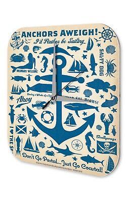 Acquista A Buon Mercato Orologio Da Parete Maritime Decorazione Ancoraggio Pesci Sirena Timone Acrilico Orologio Vintage Ret-mostra Il Titolo Originale