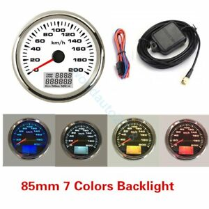 85mm-GPS-speedometer-200km-h-Odometer-For-Car-Truck-Motorcycle-7Colors-Backlight