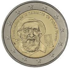 2 EURO Francia 2012 - 100° anniversario nascita Abbé Pierre