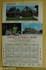 Smiths Funeral Home Wadesboro Anson County NC Mortuary Calendar Hearse Negro '78