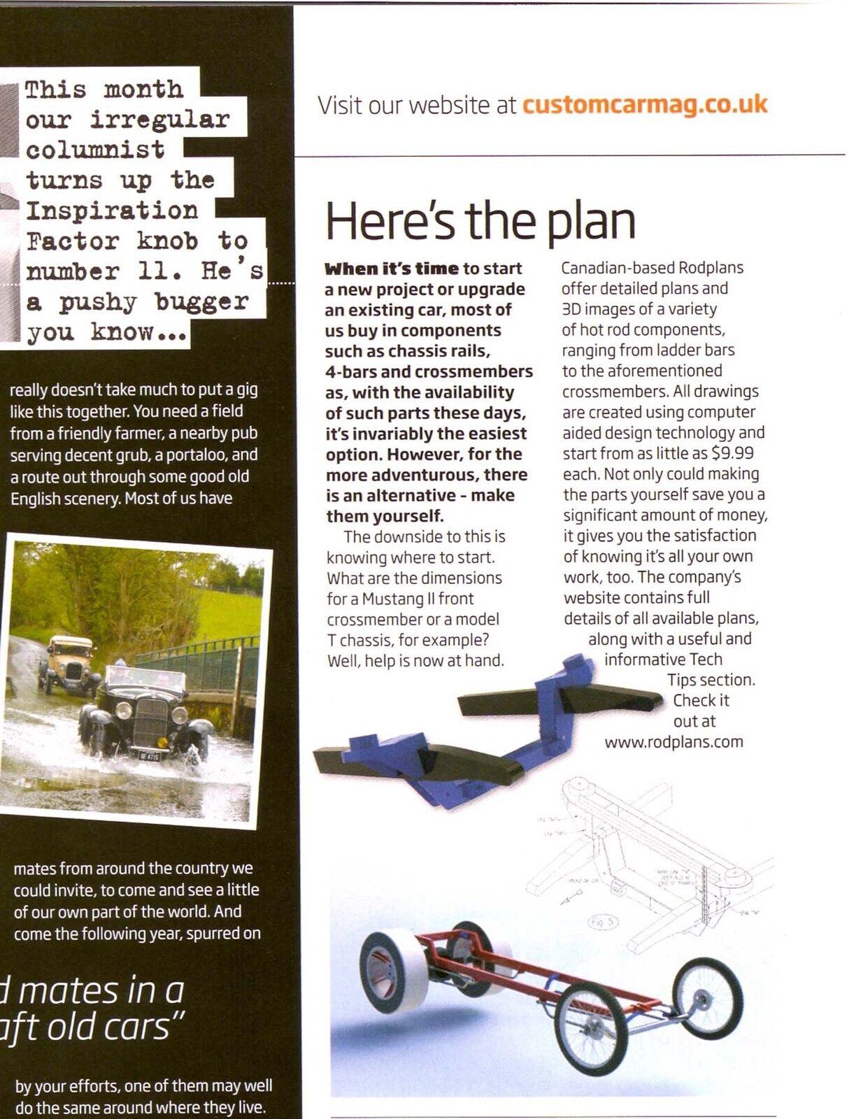 #06  4 Link Rear Drag Race Rear Suspension Blueprint Plans  Gasser pro street
