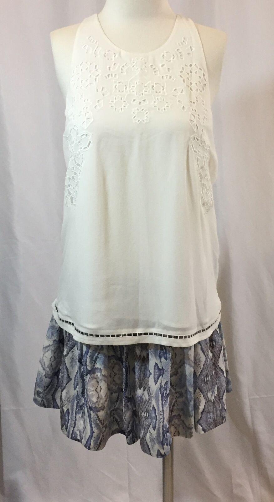 NWT  Sz. 4, 6, 8 REBECCA TAYLOR Circular Silk Mini Skirt Winter Combo Print