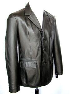 Veste en cuir classique homme