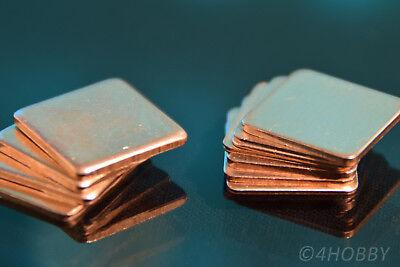12 Kupferplättchen 0,3 0,5 0,8 1,0 1,2 1,5mm Cpu Wärmeleitplättchen Wärme Pad