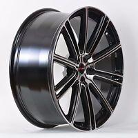 4 Gwg Wheels 18 Inch Black Machined Flow Rims Fits 5x115 Cadillac Cts 2002-2007
