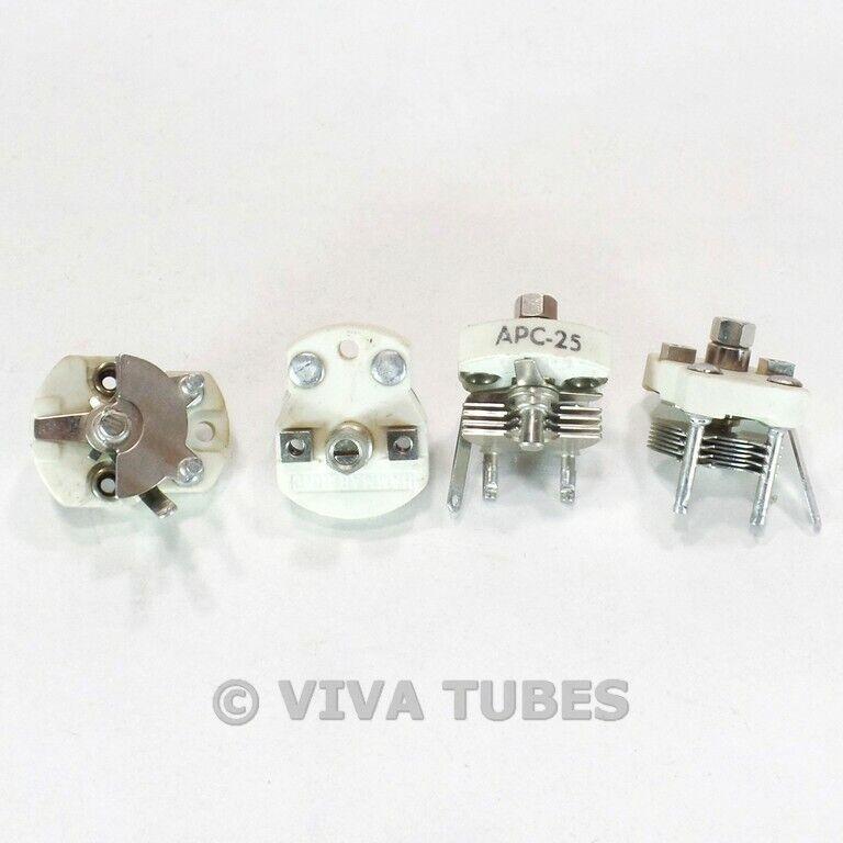 Menge von 4 Hammarlund APC-25 Mini Polsterung Kondensator Variable 2.8-17pf