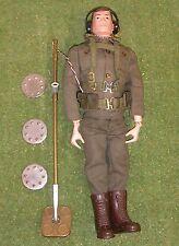 Original Vintage Action Man Suelto detector de minas Pintado cabeza 117