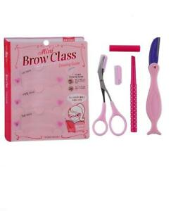 Eyebrow-set-Pencil-Razor-Scissor-Stencil-Trimmer-3-Shaper-Shaping-Shape-brow-kit