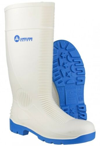 Amblers FS98 White Food Hygeine Safety S4 Steel Toe Cap Wellington Boots UK4-13