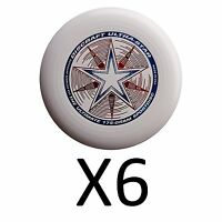 Discraft Ultra-star Ultimate Frisbee 175 Gram Championship -white (6-pack) on sale
