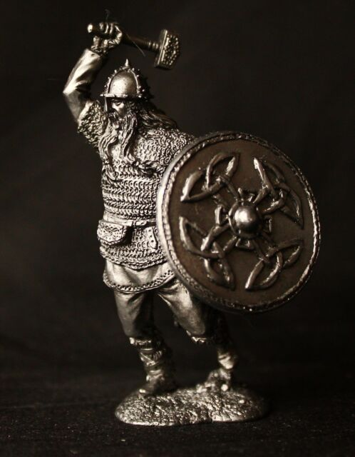 Viking with Warhammer Tin Toy soldier 54 mm., figurine, metal sculpture.