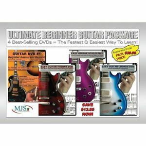 Details about Ultimate Beginner Guitar 4 DVD Package Learn to play SONGS  scales CHORDS theory