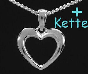 ade469a2ca0a Das Bild wird geladen 925-ECHT-SILBER-Herzkette-Kette-mit-Herz-Anhaenger