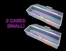 2 x Small Empty Storage Case Brush Nail Utlility Box Single Compartment 70052D