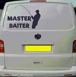 2e4c6a070b5e31 Fishing Stickers Top Box Lap Top Etc Van Decal Master Baiter 3 sizes ...