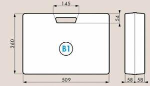 Ideal-rangement-transport-Mallette-Plastique-Compacte-B1-matelassee-noir
